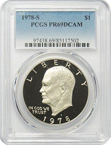 1978 S Clad Eisenhower Ike Dollar $1 PR69DCAM PCGS