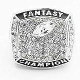 YT-ER Sport Fans Collection Champion Ringe Fans Männer Memorial Ringe High-End-Kollektionen Fans Legierung Ringe Herren Accessoires Vintage-Zubehör, Silber, 10