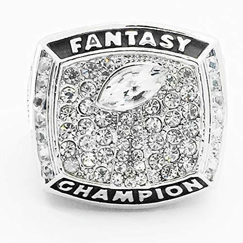 QiXian Sport Fans Collection Champion Ringe Fans Männer Memorial Ringe High-End-Kollektionen Fans Legierung Ringe Herren Accessoires Vintage-Zubehör, Silber, 9