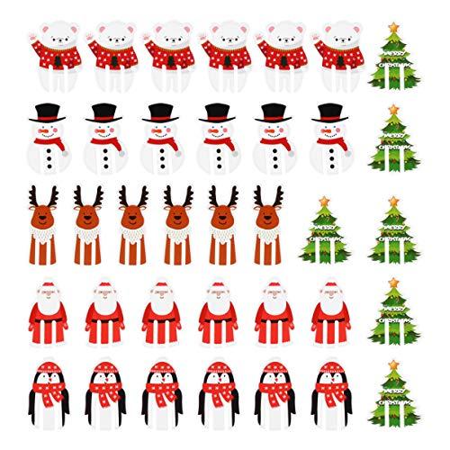 PRETYZOOM 36 Piezas Marcadores de Copa de Vino de Navidad Tarjetas de Papel Artesanal Bebida de Dibujos Animados...