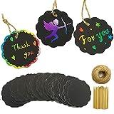 Guwheat Scratch 100 Pcs Art Gift Tag arcobaleno con strumenti di graffaggio e 100 piedi Tw...