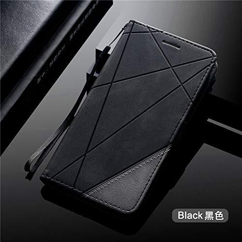HHF Teléfono móvil Accesorios para Huawei P20 P30 Pro P40 Lite P Smart 2019, Color de Cuero de ColorBloque Magnético Billetera de Cuero Cubierta de Soporte para Huawei Honor 9A Y5P Y6P Y7P 2020
