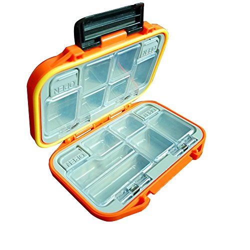 XuBa Outdoor wasserdichte Angel-Boxen Haken Aufbewahrungstasche Angeln Wirbel Köder Aufbewahrung Container Angelzubehör Werkzeug Organizer