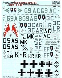 Messerschmitt Bf.110 Night Fighter & Interceptor Aces Print Scale 72-169