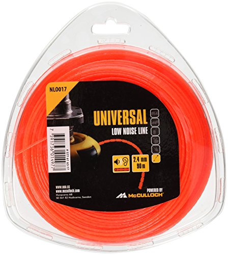 Great Deal! UNIVERSAL NLO017 Low Noise Trimmer Line For All Line Grass Trimmers, 2.4 mm x 90 m
