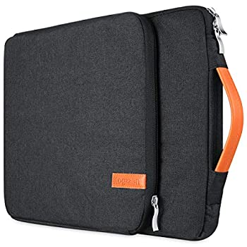 Kogzzen 16 15.6 15.4 15 Inch Laptop Sleeve Waterproof Shockproof Case Notebook Bag Compatible with MacBook Pro 16/15/ Surface Laptop 15/ Surface Book 2 15 Dell HP Lenovo Acer Asus Samsung - Black
