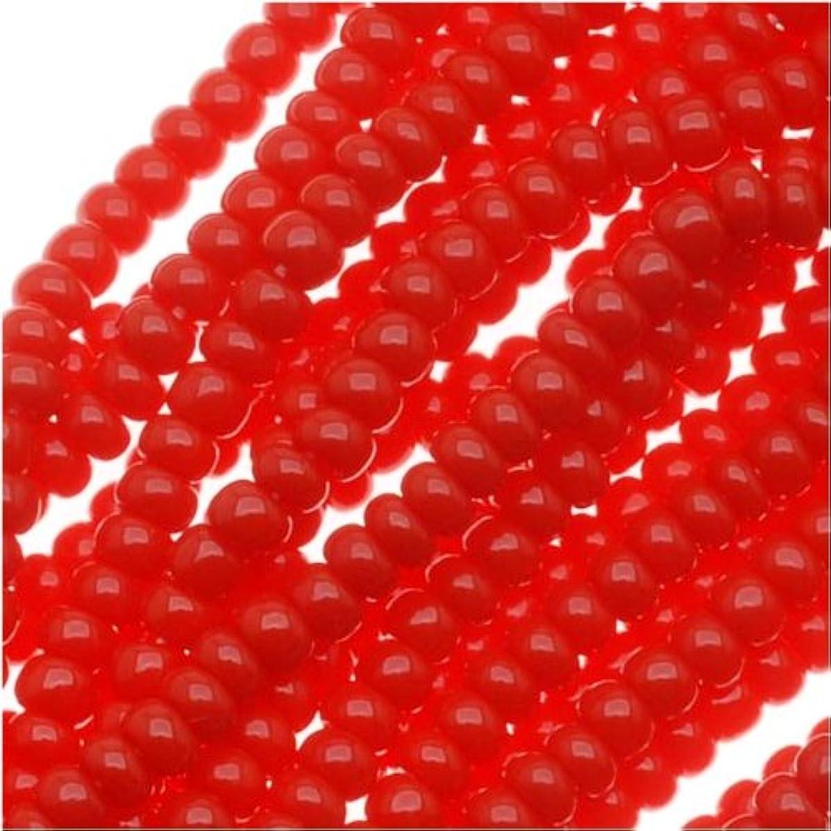 Czech Seed Beads Size 11/0 True Red Opaque (1 Hank/4000 Beads)