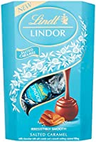 NEW: Lindt Lindor Milk Chocolate Salted Caramel Chocolate Gift Box, 200 g
