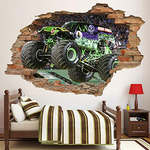 BAOWANG Wandtattoos Monster3D Wandtattoo, Monster Truck Wandaufkleber, Sportwagen, abnehmbar wandtattoo wohnzimmer 3d blumen 60 * 90cm