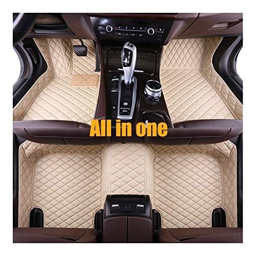 LQW HOME Autofussmatten Leder-Auto Fußmatten for Mercedes Benz C-Klasse C200 C180 C300 W204 W205 W203 W202 2000-2020 2019 2018 2017 Auto-Fußmatte Teppich Fußmatten (Color : Beige3)