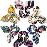 REYOK 6 Piezas de Cuerda del Pelo, Gasa para el Pelo, Bandas Elásticas para el Pelo de Arco, Lazo, Cuerdas para el Pelo, Gasa para Coleta para Mujeres y Niñas Accesorios para el Cabello