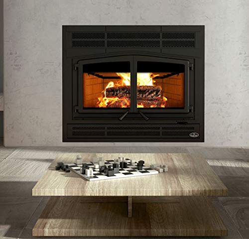 New Osburn OB04010 Horizon Wood Fireplace w/Prairie Style Faceplate