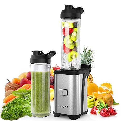 Homgeek Mini Blender 350W, Blender smoothie et...