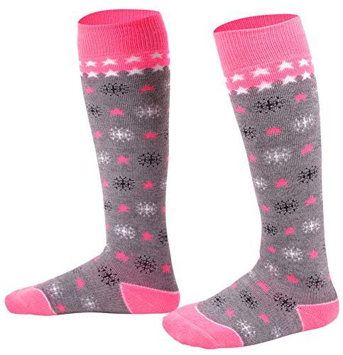 Kids Skiing Socks Full Terry Lightweight Warm Wool Snow Ski Socks