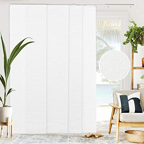CHICOLOGY Sliding Door Blinds , Blinds for Sliding Glass Doors , Vertical Blinds for Patio Doors , Sliding Glass Door Blinds , Room Divider , Woven White (Natural Woven) W:46-86 x H: 0-96 inch