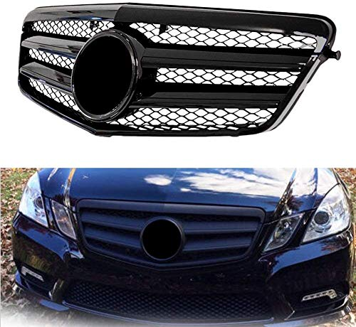 HYNB Front grill AMG bumper grill Voor Mercedes Benz W204 C-KLASSE C63 C250 C300 C200 C350 2007-2014 Glans zwart
