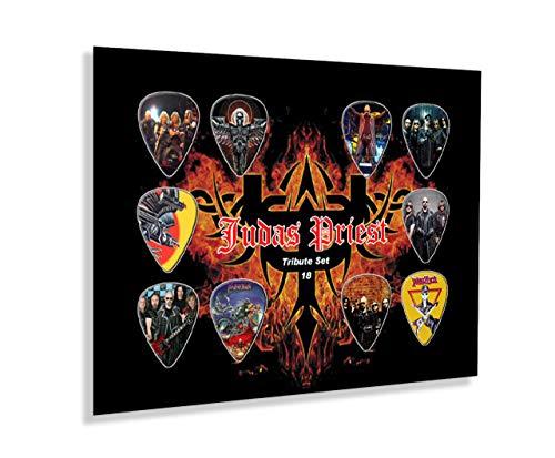 We Love Guitars Judas Priest Tribute Ungerahmte Gitarren Pick Display Plektren