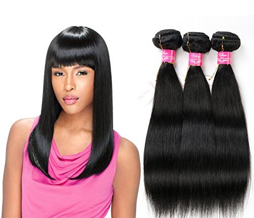 Brésilien Défrise tissage 100% cheveux humains vierges Extensions de cheveux de Qualité 6 Grade A Lot de 1 Pièce, environ 100 g/Couleur naturelle Taille (45,7 cm)