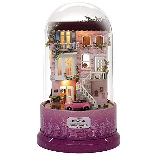 Bicaquu Cubierta antipolvo DIY Miniatura, casa de muñecas, para mujeres y niñas (B-031 Encounter Street Corner)