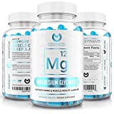 Magnesium Glycinate 400mg – Max Strength Magnesium for Improved Sleep, Stress Relief, Cramp Defense & Recovery. Highly Bioavailable, Vegan & Vegetarian Tablets (not Capsules) – 200ct.