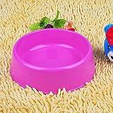LHLHMTazón Para Perros Utensilios De Comida Para Mascotas Tazón Redondo De Plástico Redondo Tazón Redondo