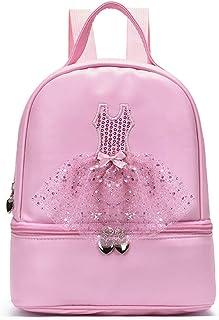 Knowooh Mochila para niñas Bolsa de Baile de Ballet Mochila Impermeable Mochila Escolar de Princesa Bailarina Bailarina Mochila Escolar para niños para niñas (Rosa)
