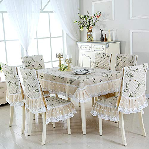 Tafelkleden voor terrasmeubels, tafelkleden voor feestjes, tafelkleden van stof, eettafel, rond, acacia, Spring Rain – Chinese Ri