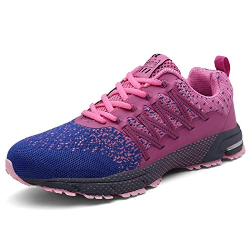SOLLOMENSI Laufschuhe Damen Herren Sportschuhe Straßenlaufschuhe Sneaker Joggingschuhe Turnschuhe Walkingschuhe Schuhe 37 EU A Pink