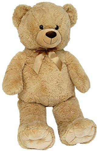 Wagner 9048 - Riesen XXL Teddybär 100 cm groß in hell-braun - Plüschbär Kuschelbär Teddy Bär in beige