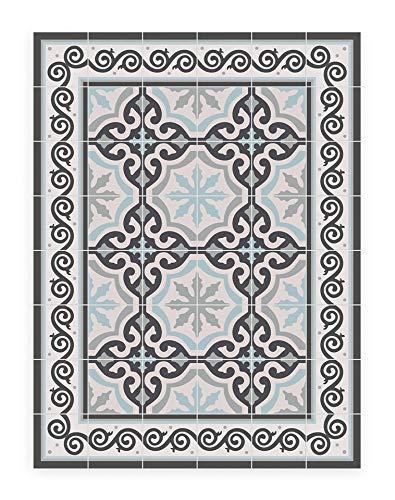 MAMUT Big Design Alfombra DE Vinilo del clásico Suelo hidráulico modernista. Se Limpia fácilmente con una fregona. Made in Barcelona. Coral Iceland 60x80cm