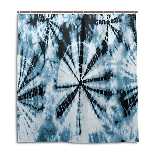 BIGJOKE Duschvorhang, abstrakte Wirbelbänder, schimmelresistent, wasserdicht, Polyester, 12 Haken, 167,6 x 182,9 cm, Heimdekoration