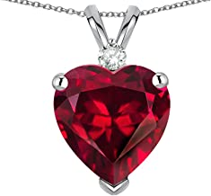 Star K 8mm Heart Shape Solid 10k Gold Classic Heart Pendant Necklace