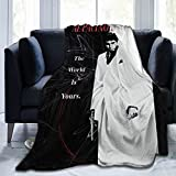 Scarface The World is Yours Ultra-Soft Micro Fleece Blanket Throw Super Soft Blanket 50'X40'
