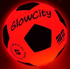 Blazing Smart LED Light Up Soccer Ball size 5: The GlowCity LED Soccer Ball can be seen a few hundred yards away. Making our nightball soccer ball fantastic for those times when games run late. These are great light up balls for kids as well as peopl...