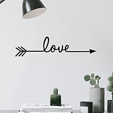 Fashion Love Arrow Decal Living Room Bedroom Vinyl Carving Wall Decal Sticker for Home Decoration (Love arrow)
