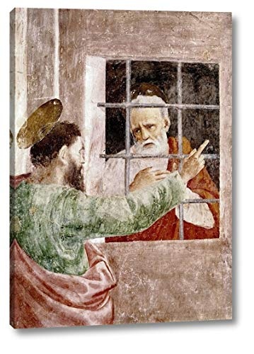 """St. Peter in Jail by Masaccio - 21"""" x 30"""" Canvas Art Print Gallery Wrapped - Ready to Hang"""