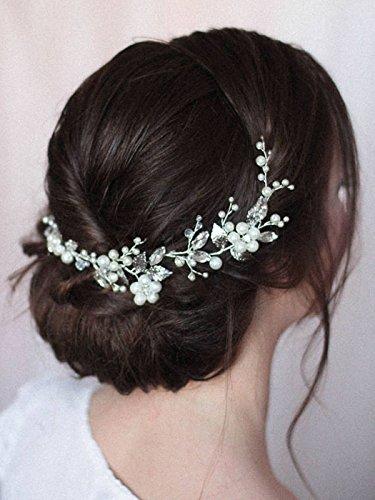 Diadema Jovono, tocado para decorar el cabello de la novia en bodas, ideal para...