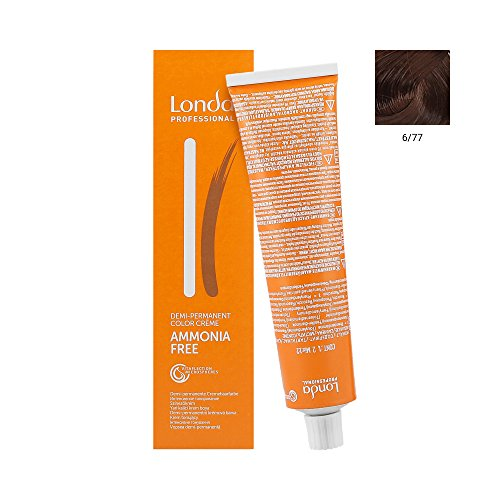 Londa Demi intensieve kleuring 6/77 donker blond bruin intens, verpakking van 2 (2 x 60 ml)
