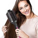 Brosse à air chaud, morpilot Sèche-cheveux Brosse Multifonctionnel 3-en-1 Sèche-cheveux Redresseur de Cheveux Bigoudi...