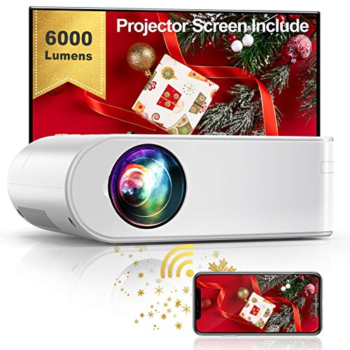 YABER WiFi Projector Mini Portable Projector 6000 Lumens 1080P Full HD...