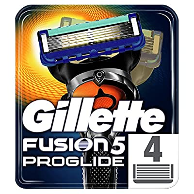Gillette Fusion5 ProGlide Razor Blades for Men with Precision Trimmer, Pack of 4 Refill Blades