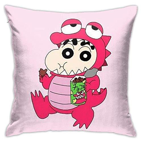 IUBBKI Funda de Almohada Lovely Crayon Shin-Chan Fundas de Almohada Throw Cojín Fundas de Almohada Decorativas para sofá 18 X 18 Pulgadas