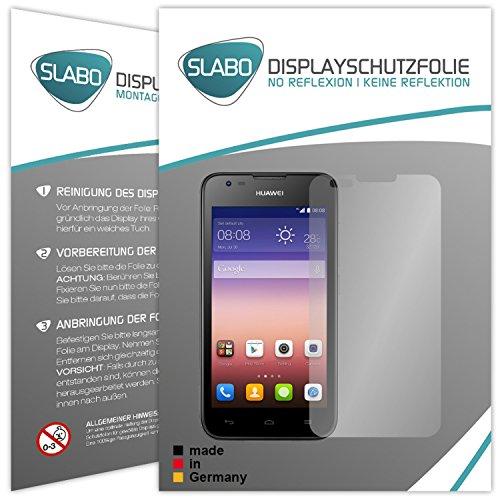 Slabo 2 x Bildschirmschutzfolie Huawei Ascend Y550 Bildschirmschutz Schutzfolie Folie No Reflexion|Keine Reflektion MATT - Entspiegelnd Made IN Germany