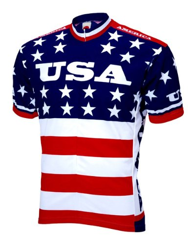 World Jerseys 1979 Team USA Maillot de ciclismo de manga corta para...