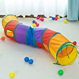 iCAGY Cat Tunnel for Indoor Cats Interactive, Rabbit Tunnel Toys, Pet Toys Play Tunnels for Cats Kittens Rabbits Puppies Crinkle Collapsible Pop Up Multiple Color 47'