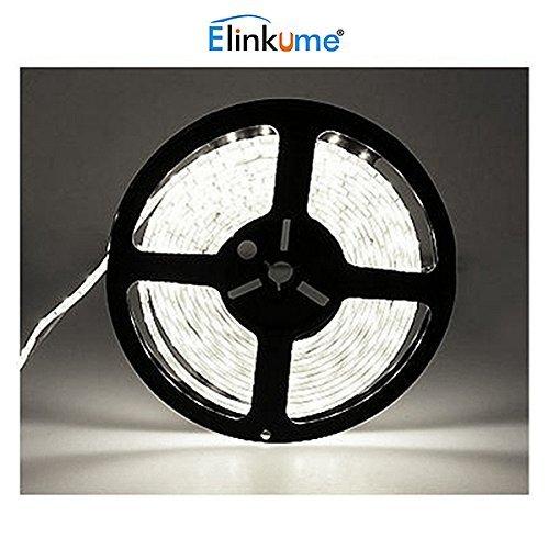 Elinkume 10M Bande Flexible 60 SMD 5050 Bande Flexible Blanc Froid Bandes LED Flexibles DC12V LED(SMD) Strip