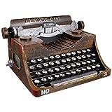 BESPORTBLE Vintage Typewriter Model Retro Typewriter Iron Art Typewriter Manual Typewriter Photo Prop Tabletop Decoration Desktop Ornament Black