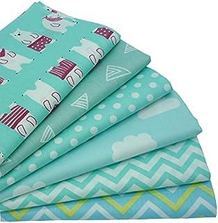6 unidades 40 cm * 50 cm Mint Color Impreso tela de algodón para patchwork costura