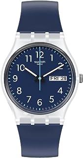 Swatch Gent Standard Quartz bio-sourced Material Strap, Blue, 16 Casual Watch (Model: GE725)