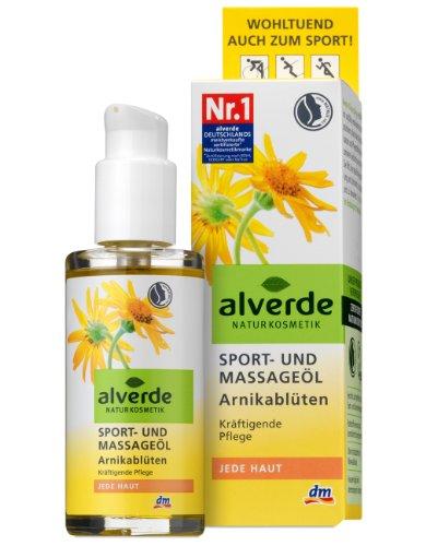 Alverde Sport- und Massageöl Arnikablüten , 6er Pack (6 x 100 ml)